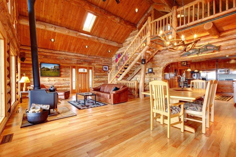 Log homes and log cabins articles information house plans - Cabin floor concept ...