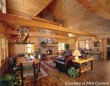 The Right D Cor Completes The Log Home Lifestyle