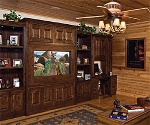 Log Cabin with Home Tech Image