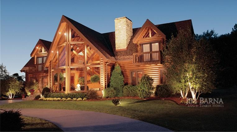 Jim barna log homes for Big log homes