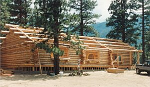 Log Home Construction Photo