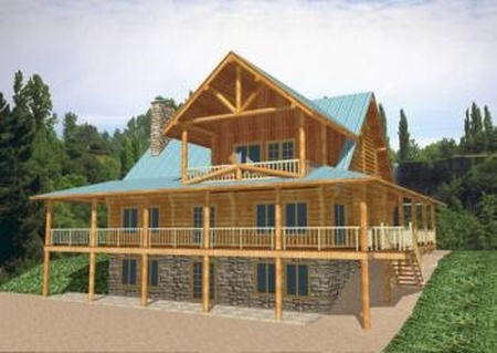 Plan 039 00011 2 bedroom 2 5 bath log home plan for 5 bedroom log home plans