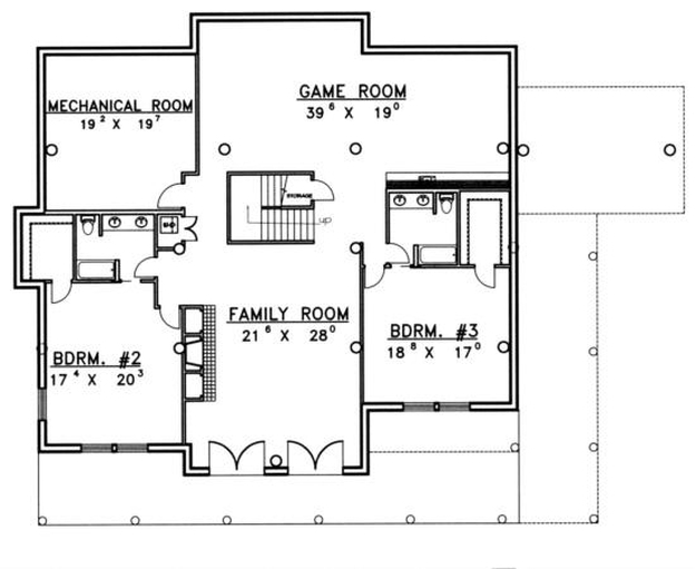 Plan 039 00071 3 Bedroom 5 Bath Log Home Plan