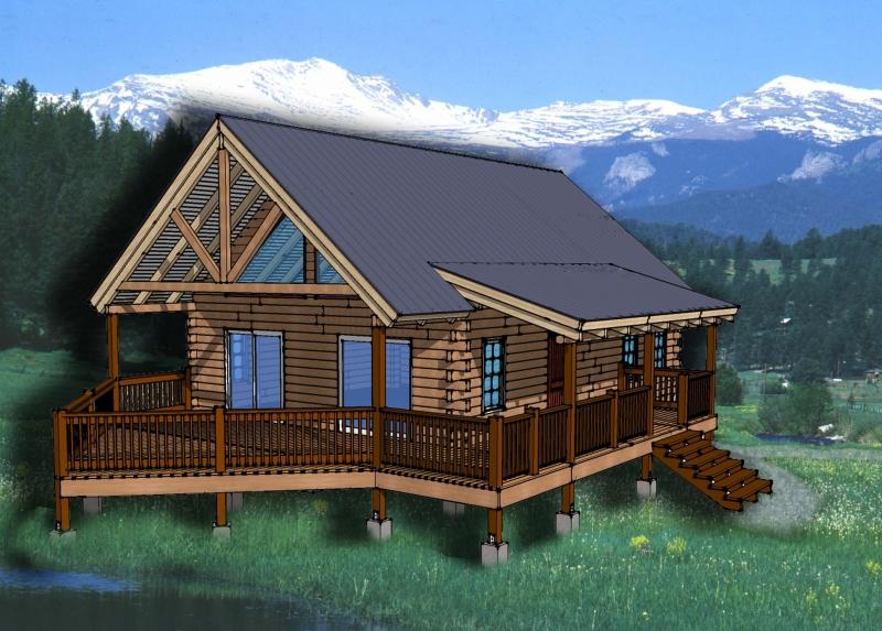 Chalet Log Home Plan