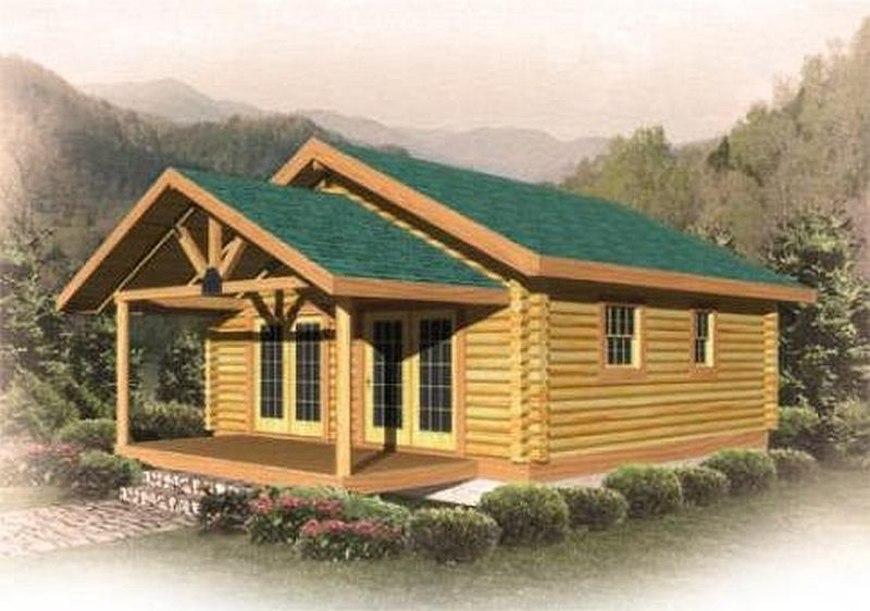 Clingmans roost plan b log cabin plan for Log cabin kits 1000 square feet
