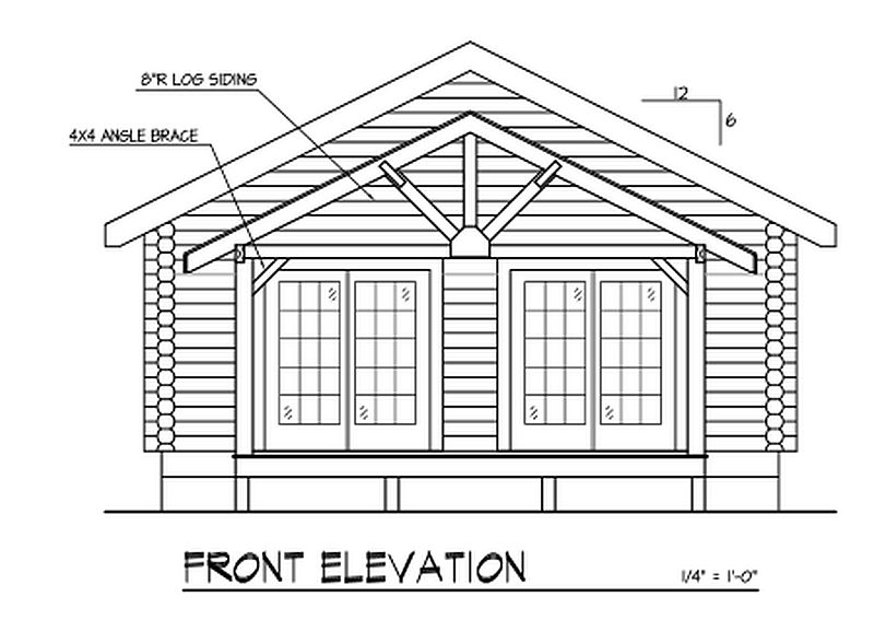 Clingmans Roost Plan B Log Cabin Plan