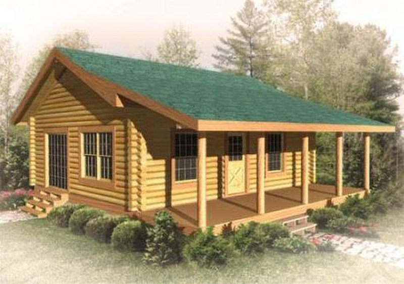 Gray drake plan a log cabin plan for Two bedroom log homes