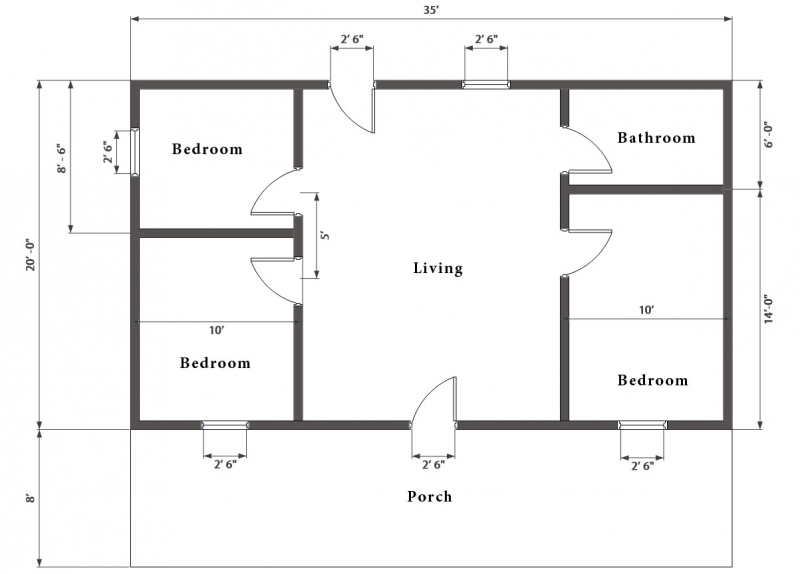 Hunting cabin kit 3 bedroom log cabin plan for 1 bedroom log cabin kits