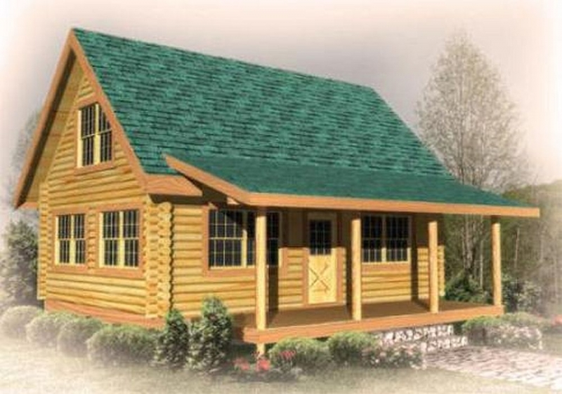 North fork plan b log cabin plan for Square log cabin plans