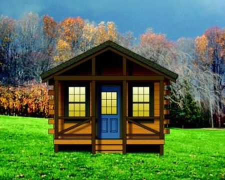 Plan 154 00004 1 bedroom 1 bath log cabin plan 1 bedroom log cabin kits