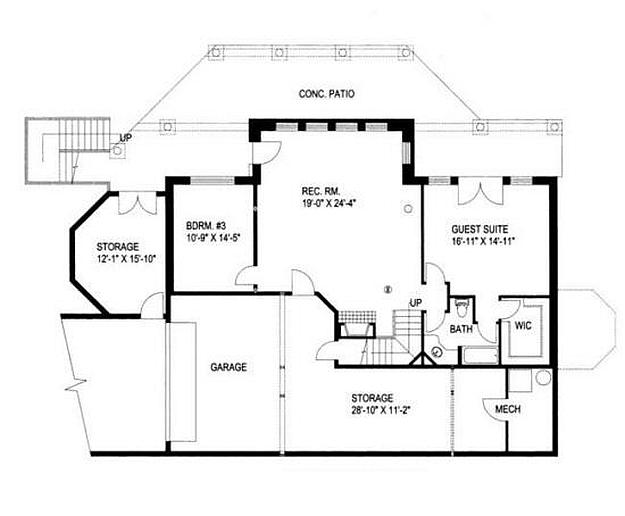 Plan 039 00005 4 Bedroom 2 5 Bath Log Home Plan