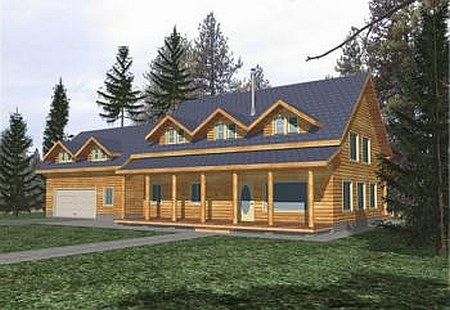 Plan 039 00008 4 Bedroom 3 5 Bath Log Home Plan