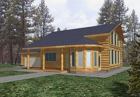 Plan 039 00009 3 bedroom 2 5 bath log home plan for 5 bedroom log home plans