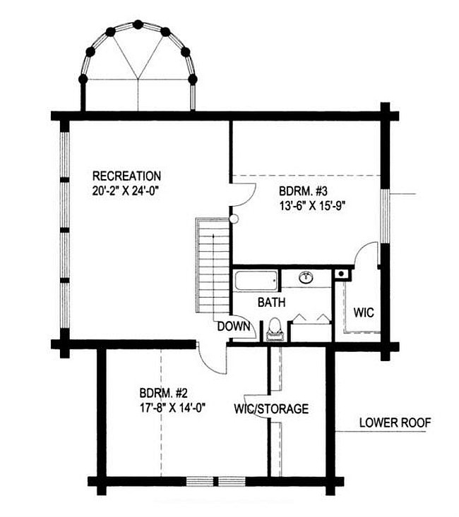 Plan 039 00009 3 Bedroom 2 5 Bath Log Home Plan