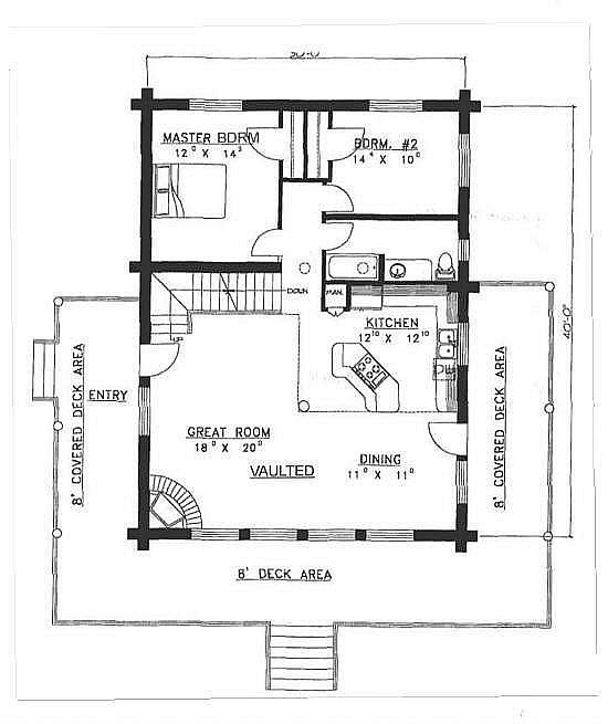 Plan 039 00010 4 Bedroom 2 Bath Log Home Plan