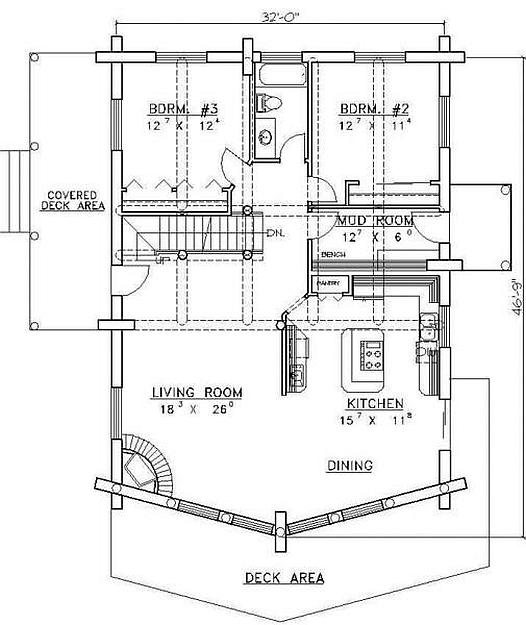 Plan 039 00013 6 Bedroom 3 Bath Log Home Plan