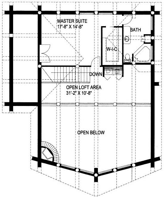 Plan 039 00014 4 Bedroom 2 5 Bath Log Home Plan
