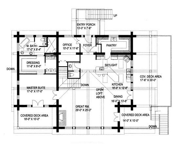 Plan 039 00018 3 Bedroom 2 5 Bath Log Home Plan
