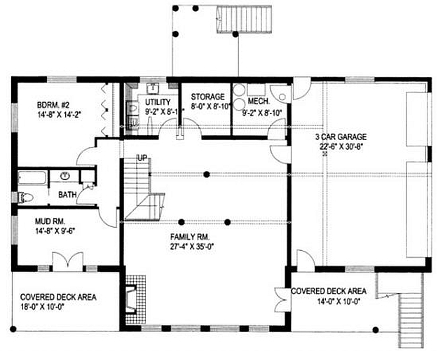 Plan 039 00018 3 bedroom 2 5 bath log home plan for 5 bedroom log home plans