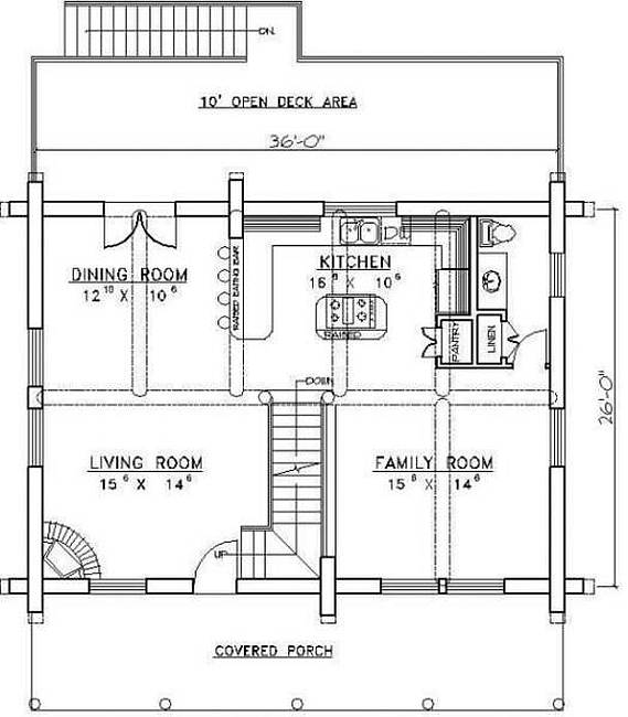 Plan 039 00025 2 bedroom 2 5 bath log home plan for 5 bedroom log home plans