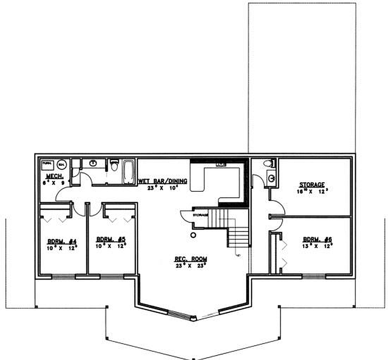 Plan 039 00038 6 Bedroom 3 5 Bath Log Home Plan