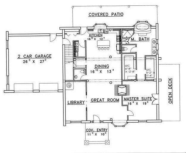 Plan 039 00042 3 Bedroom 2 5 Bath Log Home Plan