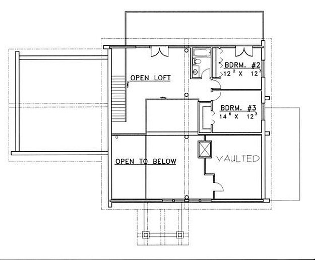 Plan 039 00042 3 bedroom 2 5 bath log home plan for 5 bedroom log home plans