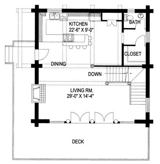 Plan 039 00046 3 Bedroom 2 5 Bath Log Home Plan