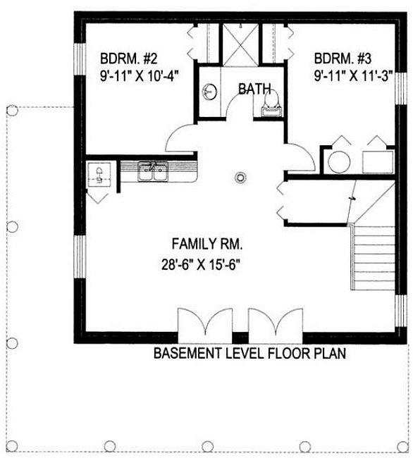 Plan 039 00046 3 bedroom 2 5 bath log home plan for 2 bedroom log home plans