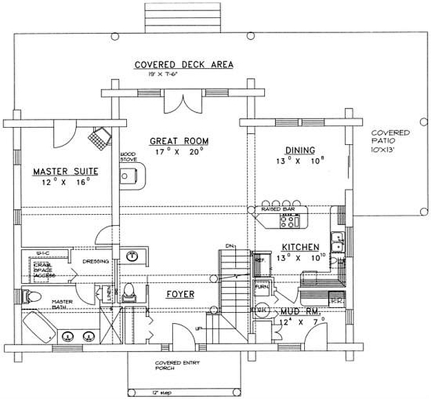 Plan 039 00057 3 Bedroom 2 5 Bath Log Home Plan