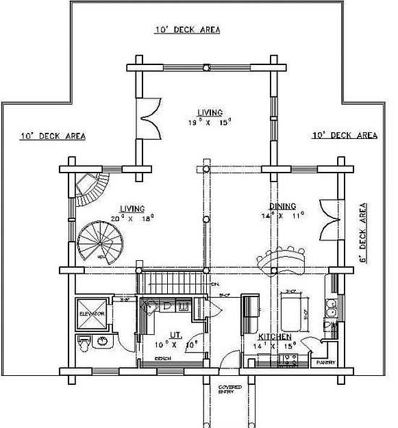 Plan 039 00058 2 Bedroom 2 5 Bath Log Home Plan