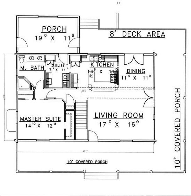 Plan 039 00076 4 Bedroom 3 Bath Log Home Plan