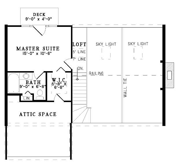 Plan 110 00906 2 Bedroom 2 Bath Log Home Plan