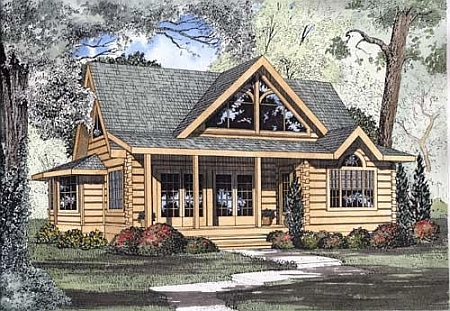 Plan 110 00909 2 bedroom 2 5 bath log home plan for 5 bedroom log homes