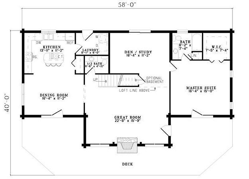 Plan 110 00910 3 bedroom 2 5 bath log home plan for 2 bedroom log cabin plans