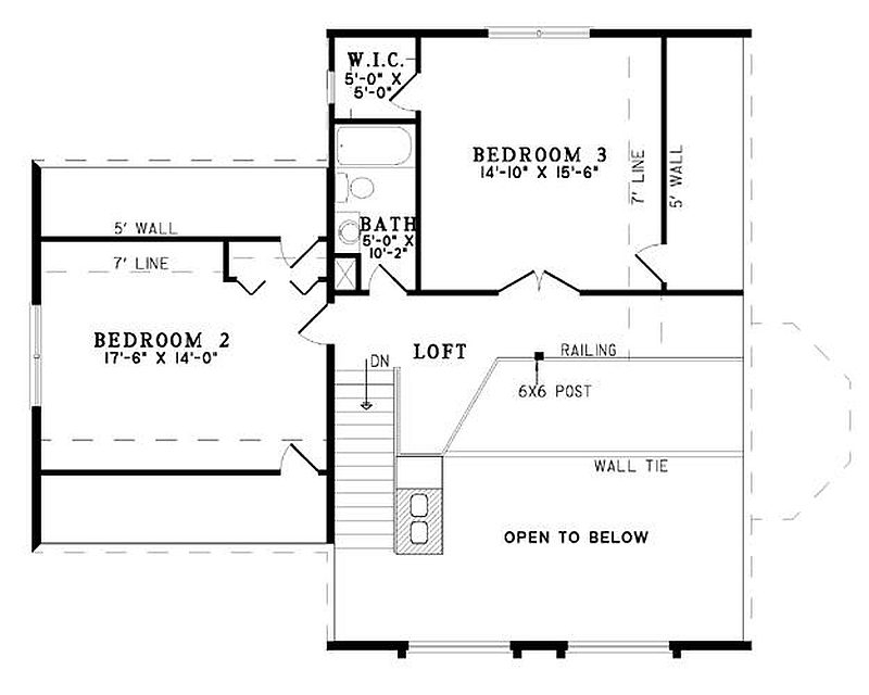 Plan 110 00914 3 Bedroom 2 5 Bath Log Home Plan
