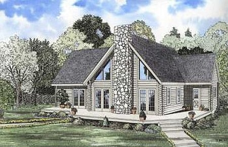Plan 110 00915 3 bedroom 2 5 bath log home plan for 5 bedroom log home plans