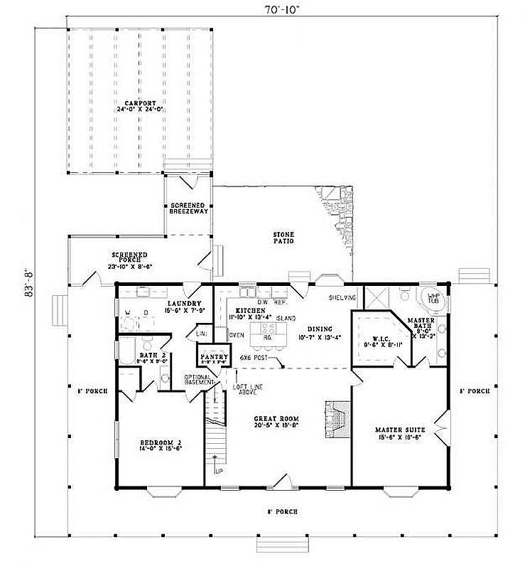 Plan 110 00917 4 Bedroom 3 Bath Log Home Plan