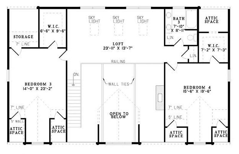 Plan 110 00917 4 bedroom 3 bath log home plan for 4 bedroom log home plans