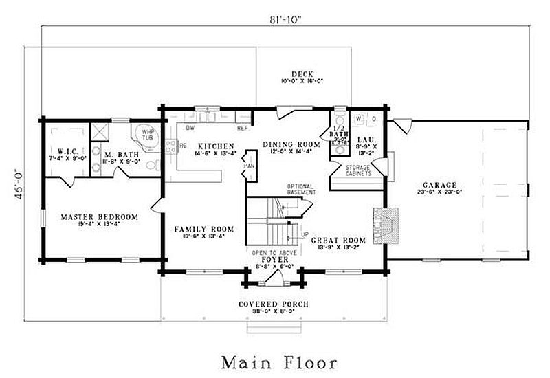 plan 110 00921 5 bedroom 3 5 bath log home plan