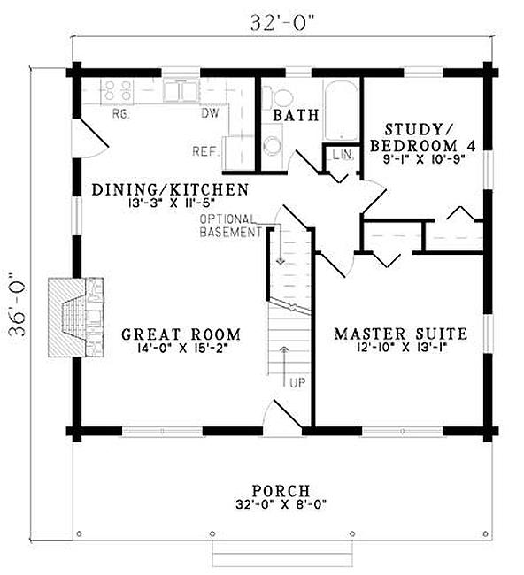 Plan 110 00922 4 Bedroom 2 Bath Log Home Plan