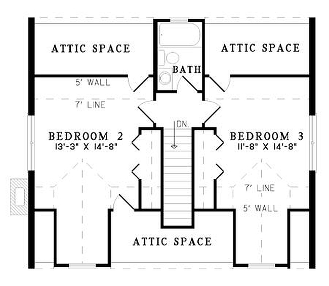 Plan 110 00922 4 bedroom 2 bath log home plan for 4 bedroom cabin floor plans