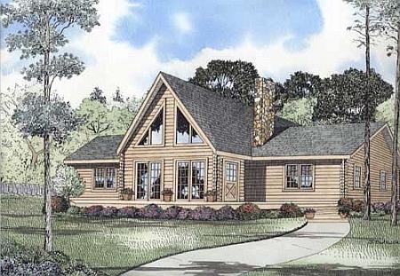 Plan 110 00923 3 bedroom 2 bath log home plan for 2 bedroom log home plans