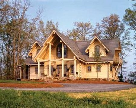 Plan 110 00924 3 bedroom 3 5 bath log home plan for 5 bedroom log homes