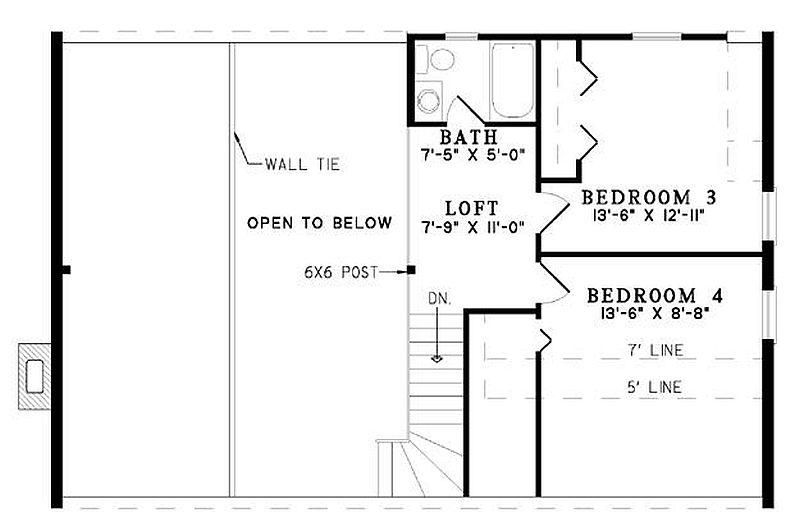Plan 110 00929 4 Bedroom 2 5 Bath Log Home Plan