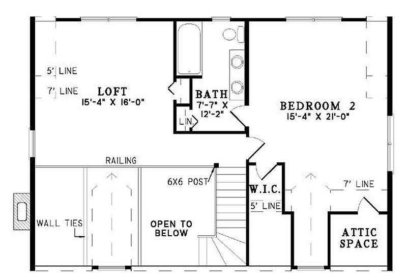 Plan 110 00930 2 Bedroom 2 Bath Log Home Plan