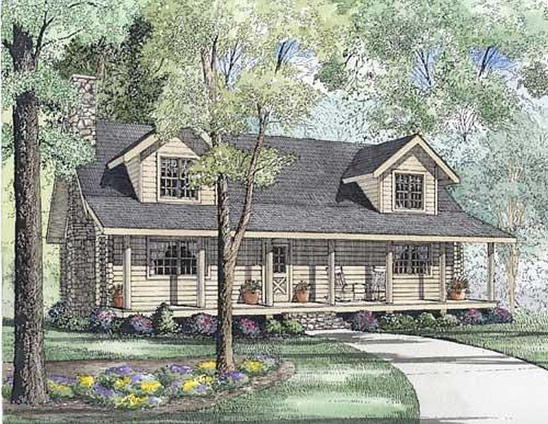 Plan 110 00936 3 bedroom 2 5 bath log home plan for 5 bedroom log homes
