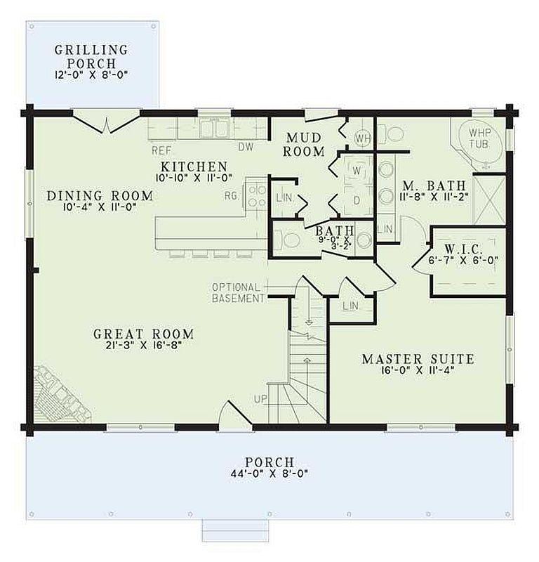 3 Beds 2 5 Baths 2370 Sq Ft Plan: Plan 110-00936 3 Bedroom 2.5 Bath Log Home Plan