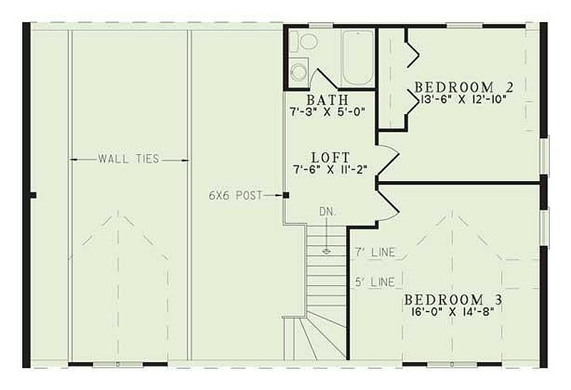 Plan 110 00936 3 Bedroom 2 5 Bath Log Home Plan