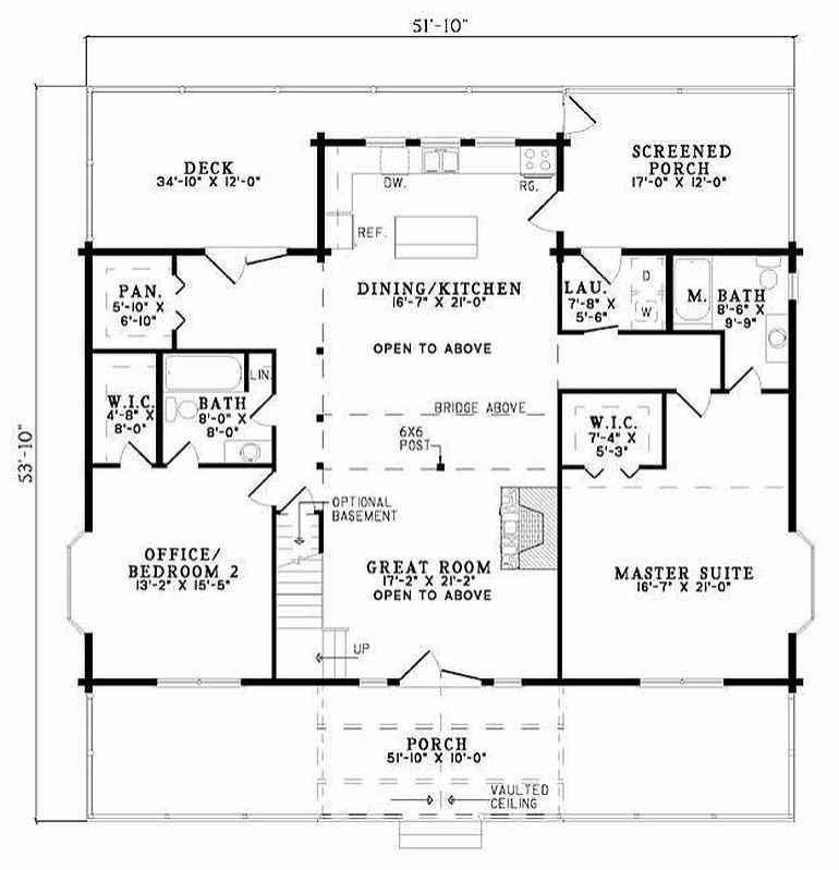 Plan 110 00944 2 Bedroom 2 Bath Log Home Plan